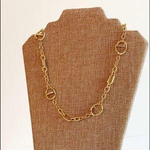 1AR UnoAerre Italian gold plated link necklace